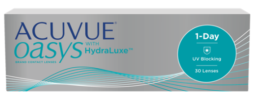 Acuvue Oasys 1-Day with HydraLuxe 30 tk + 10 läätse tasuta (ainult BC8.5 -0,75 kuni -8,0)!