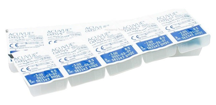 Stardikomplekt Acuvue Oasys 1-Day with HydraLuxe 10 tk