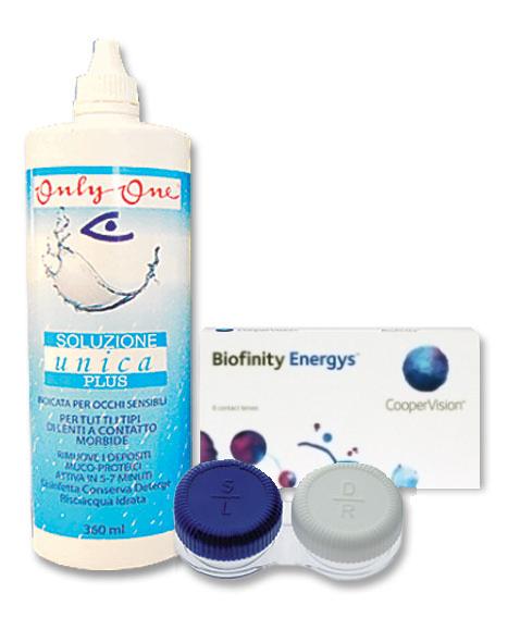 Komplekt Biofinity Energys 3+3 läätse ja Unica Plus 360ml + konteiner