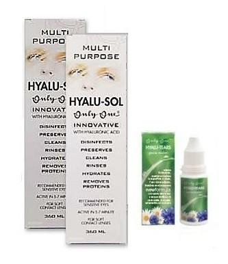 OnlyOne Hyalu-Sol 360 ml 2tk + Hyalu tears New Formula 15ml silmatilgad TASUTA!
