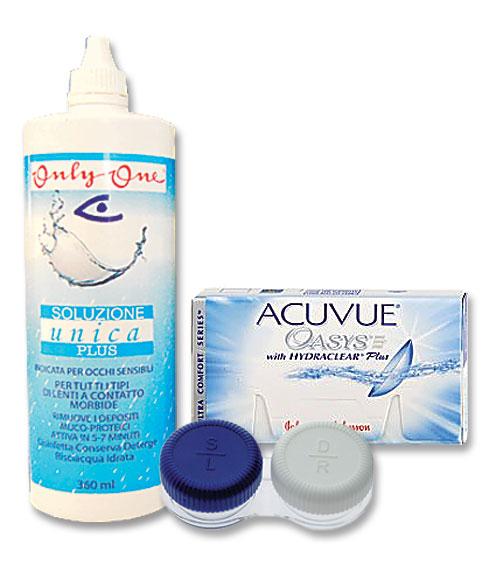 Komplekt Acuvue Oasys BC8.4 3+3 ja Unica Plus 360ml + konteiner