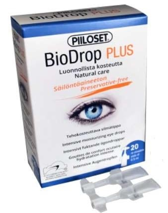 Piiloset BioDrop PLUS  20*0,5 ml ampullides (taassuletavad)