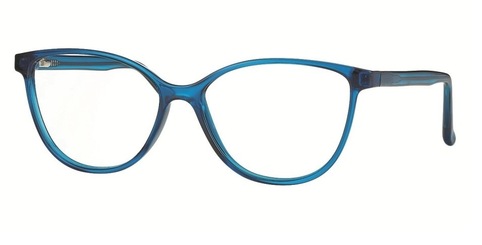 Cat-Eye F0215 Transparent Turquoise Blue Light Filter 0,0