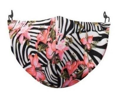 Kaitsemask Junior Zebra Pink