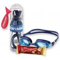 Подарочный комплект: оптические очки для плавания SWIMMI 2 (sph от -1,0 до -11,0)